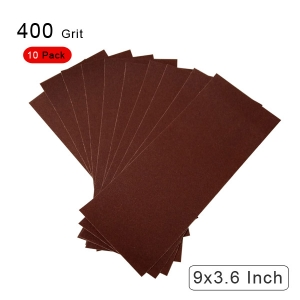 10 Pieces 400 Grit Sandpaper Assortment Dry/ Wet 9 x 3.6 Inch