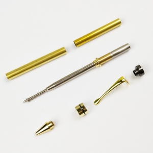 PKM-1-G Twist Ballpoint pen kit Gold Color with Gunmetal Topcap