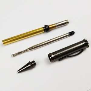 PKM-4-GM Gun Metal Ballpoint Twist Pen Turning Kits