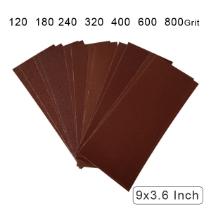 Cloth Backed Long lasting Aluminum oxide Coated Abrasive Cloth Dry/ Wet 9 x 3.6 Inch