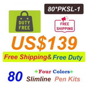 Free Shipping Free Duty 80 Pieces of PKSL-1 Slimline Pen kits US$139