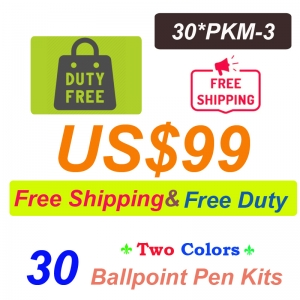 Free Shipping Free Duty 30 Pieces of PKM-3 Ballpoint Pen kits US$99