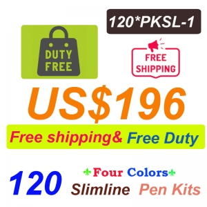 Free Shipping Free Duty 120 Pieces of PKSL-1 Slimline Pen kits US$196
